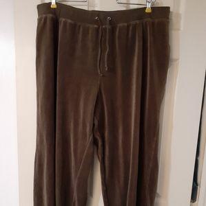 Plus-size Velour Pants